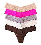 Hanky Panky Low Rise Signature Lace Thongs - 5 Pack 4911F