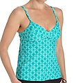 Sunsets Vero Beach Envy Shirred Tankini Swim Top VBEN89T
